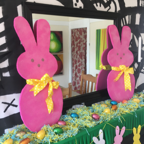 Peeps Inspired Bunny Decoration