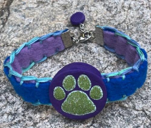 Reversible Paw Print Slide Bracelet