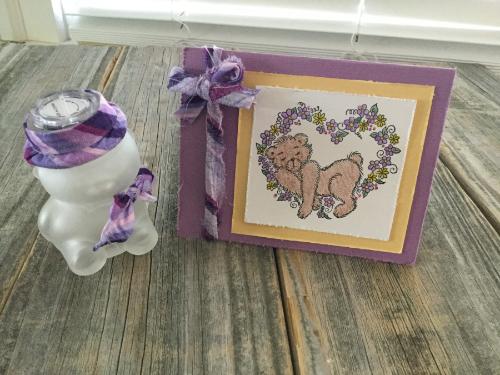 Teddy Bear Nursery Light and Handmade Card