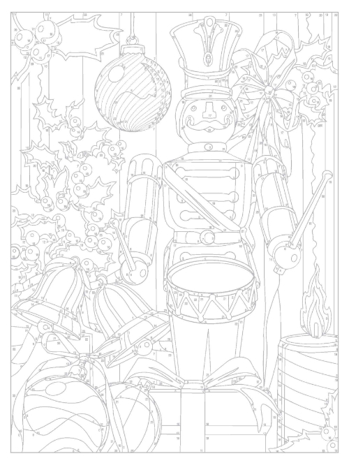 Christmas Color By Number Coloring Book When Creativity Knocks