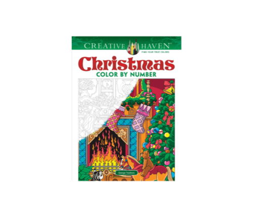 Christmas Color-By-Number Coloring Book