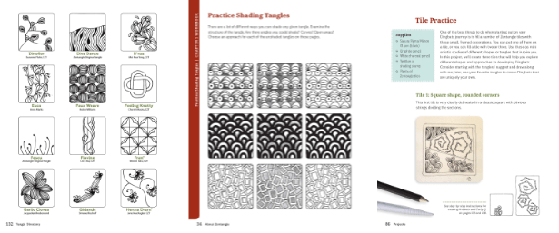 Zentangle DingBatz pages