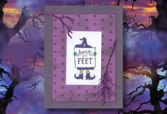 Smell My Feet Witch Card