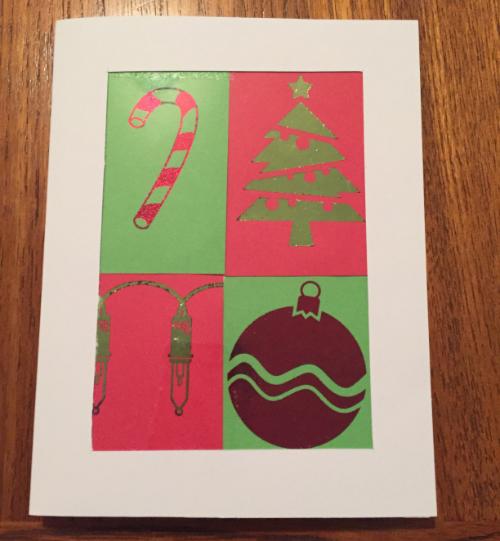 Tiled Christmas Card How 7