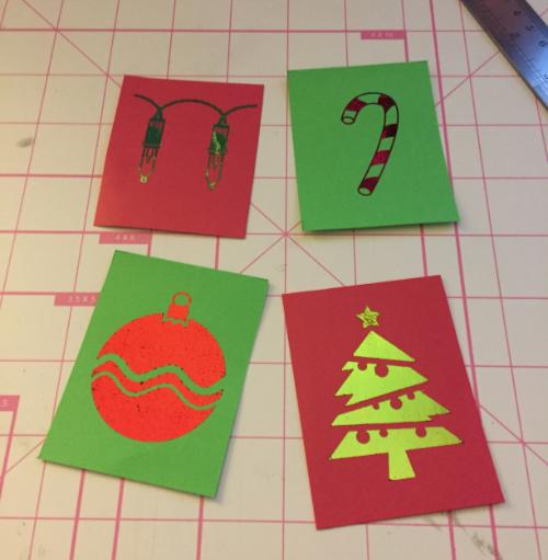 Tiled Christmas Card How 3