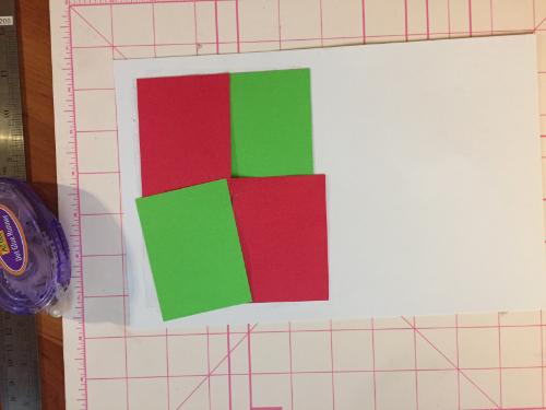 Tiled Christmas Card How 6