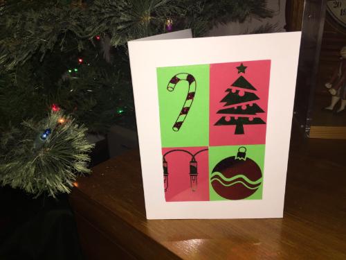 Tiled Christmas Card