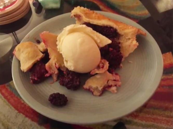 Sugar Free Deep Dish Blackberry Pie