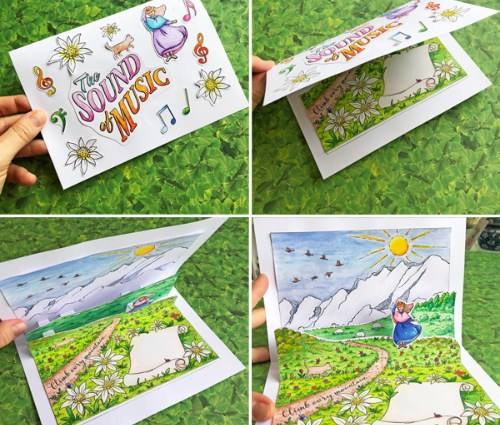 Sound of Music-inspired Pop-up Card