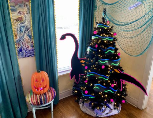 Neon Nessie Halloween Tree