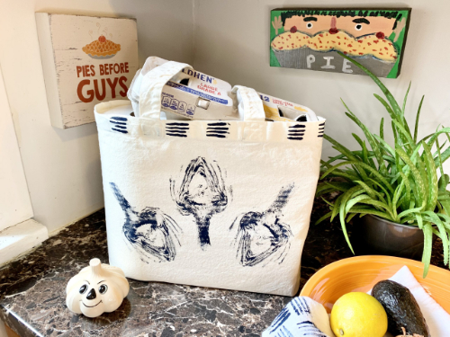 Artichoke-stamped Tote Bag