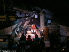 In the 'jazz cave'