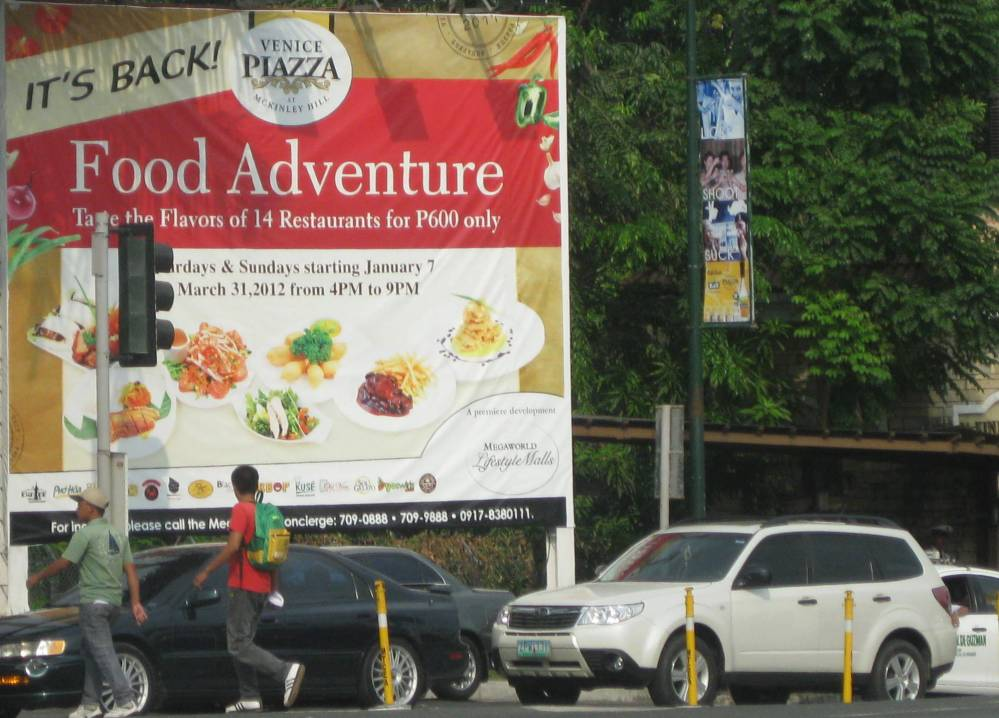 Food from 14 Restaurants @  P600
