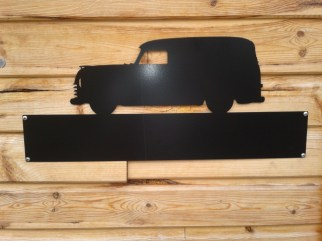 Silhouette Sign: Chevy Panel Van