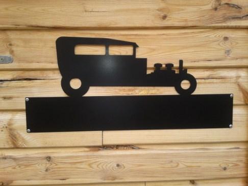 Silhouette Sign: Model A Sedan