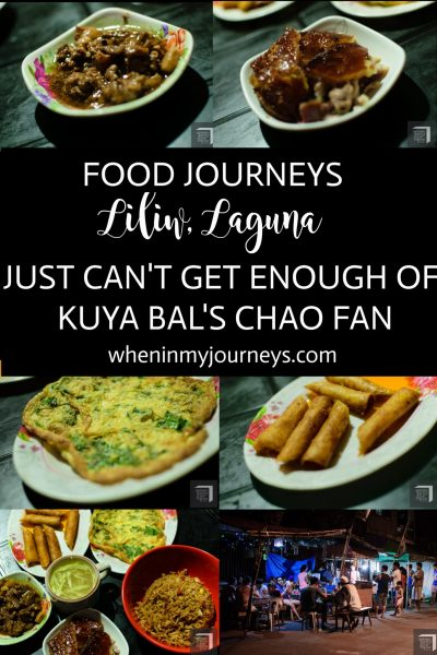 Food Journeys Liliw Laguna - Just Can't Get Enough of Kuya Bal's Chao Fan Portrait