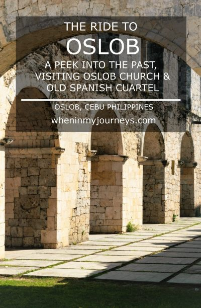 Cebu The Ride to Oslob A Peek into the Past Visiting Oslob Church and Old Spanish Cuartel Portrait