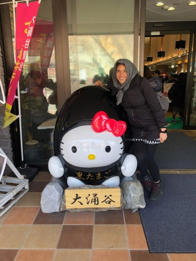 Honeymoon Japan with black egg hello kitty