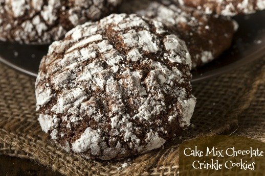 Cake Mix Chocolate Crinkle Cookies When Is Dinner