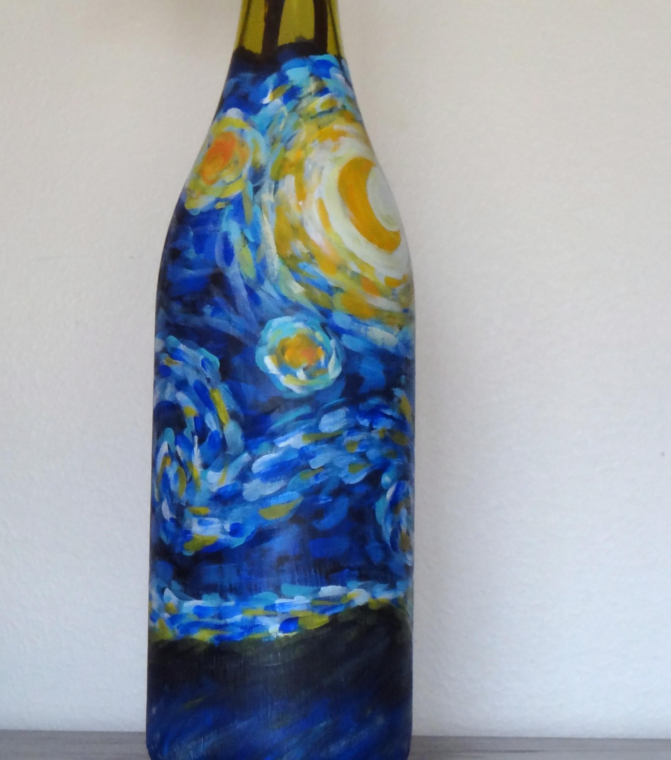 Starry Night Wine Bottle  When Life Gave Me Lemonade
