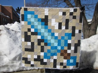 minecraft quilt pixellated loves whole another birthday project
