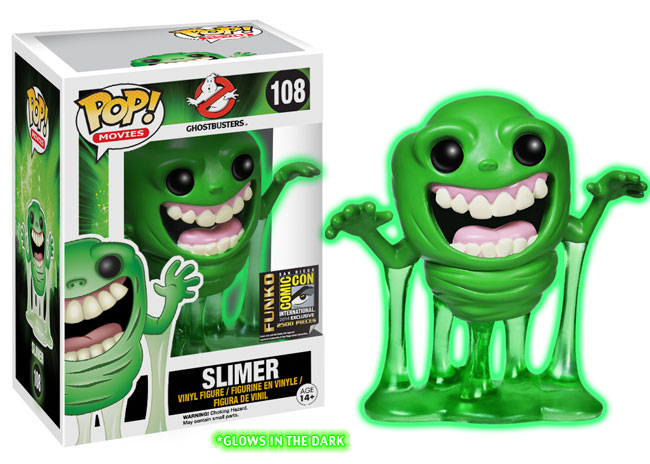 How about a GLOW IN THE DARK SLIMER?! His ectoplasmic ooze is looking a little crazy...
