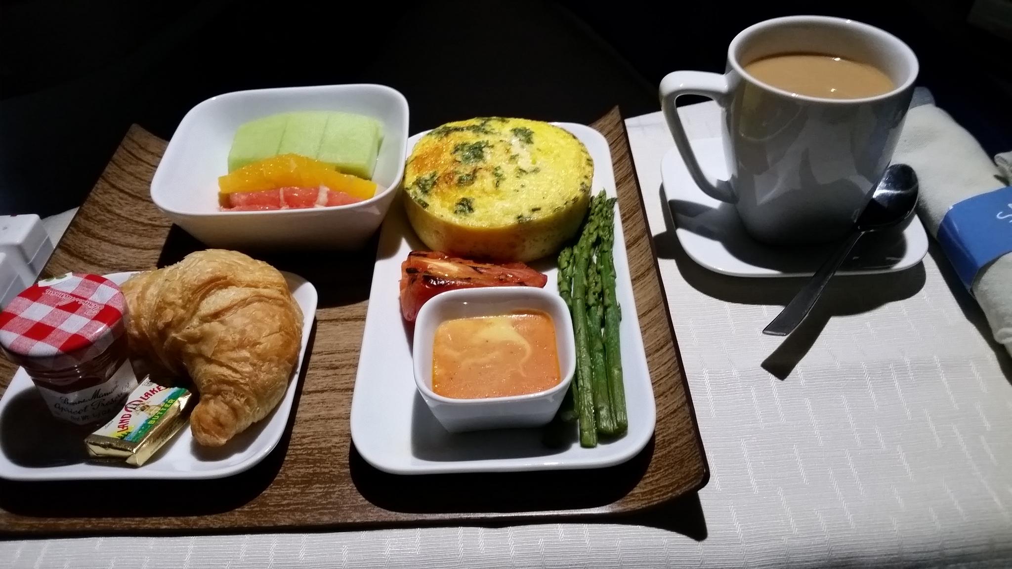 1st class breakfast