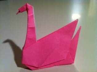 origami valentine swan
