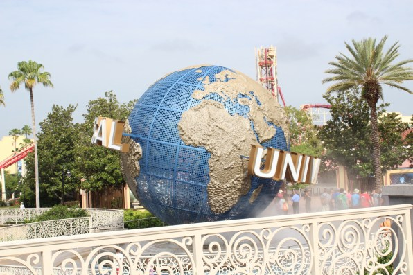 It's a little overexposed, but it's the Universal globe that I've seen on television my entire childhood!