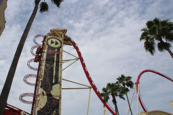 This ride was terrifying. I didn't ride because it went straight up (as you can see), but it was super cool to watch it!