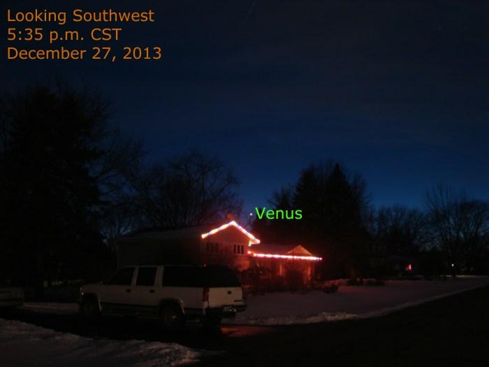 Venus in the winter
