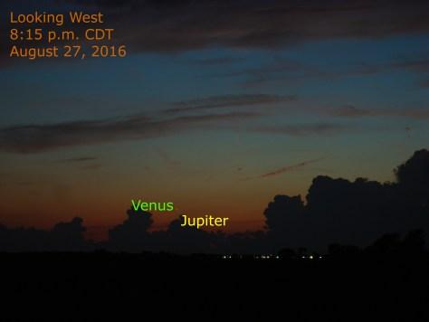Venus-Jupiter conjunction of August 27, 2016