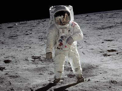 July 20, 1969, Humans walk on the moon (NASA Photo)