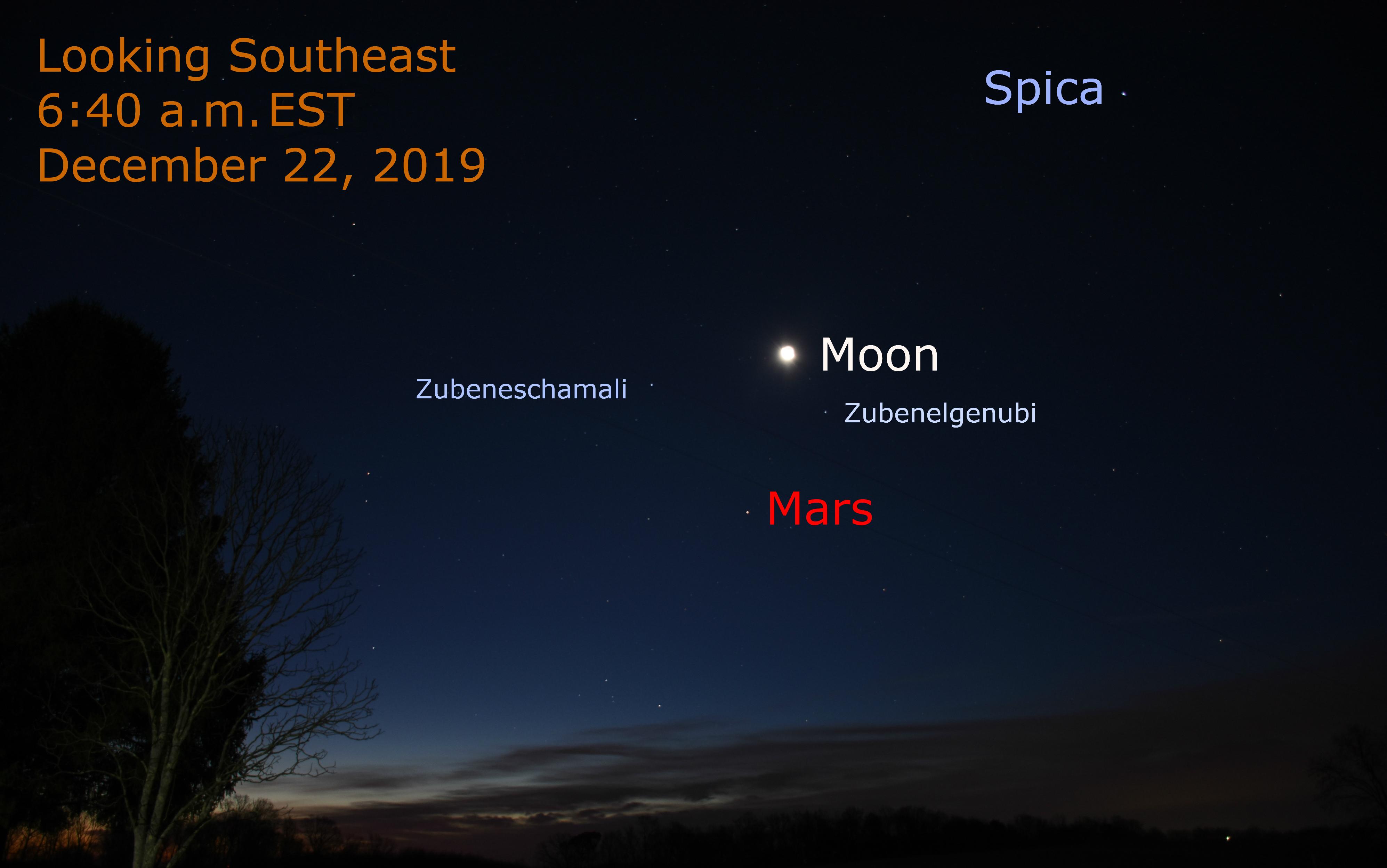 Mars Moon December 22, 2019