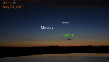 Venus, Mercury and Elnath, May 23, 2020