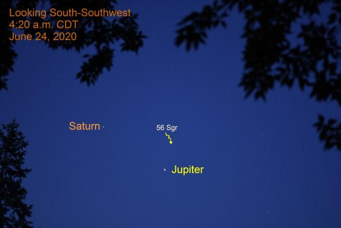 Jupiter and Saturn, June 24, 2020