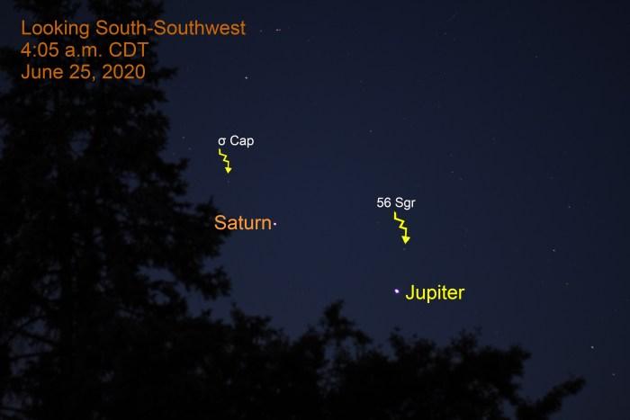 Jupiter and Saturn, June 25, 2020
