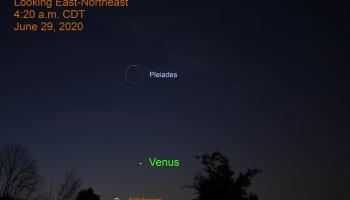 Venus in the east-northeast, June 29, 2020