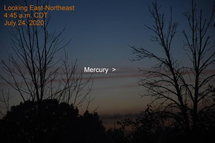 Mercury, July 24, 2020