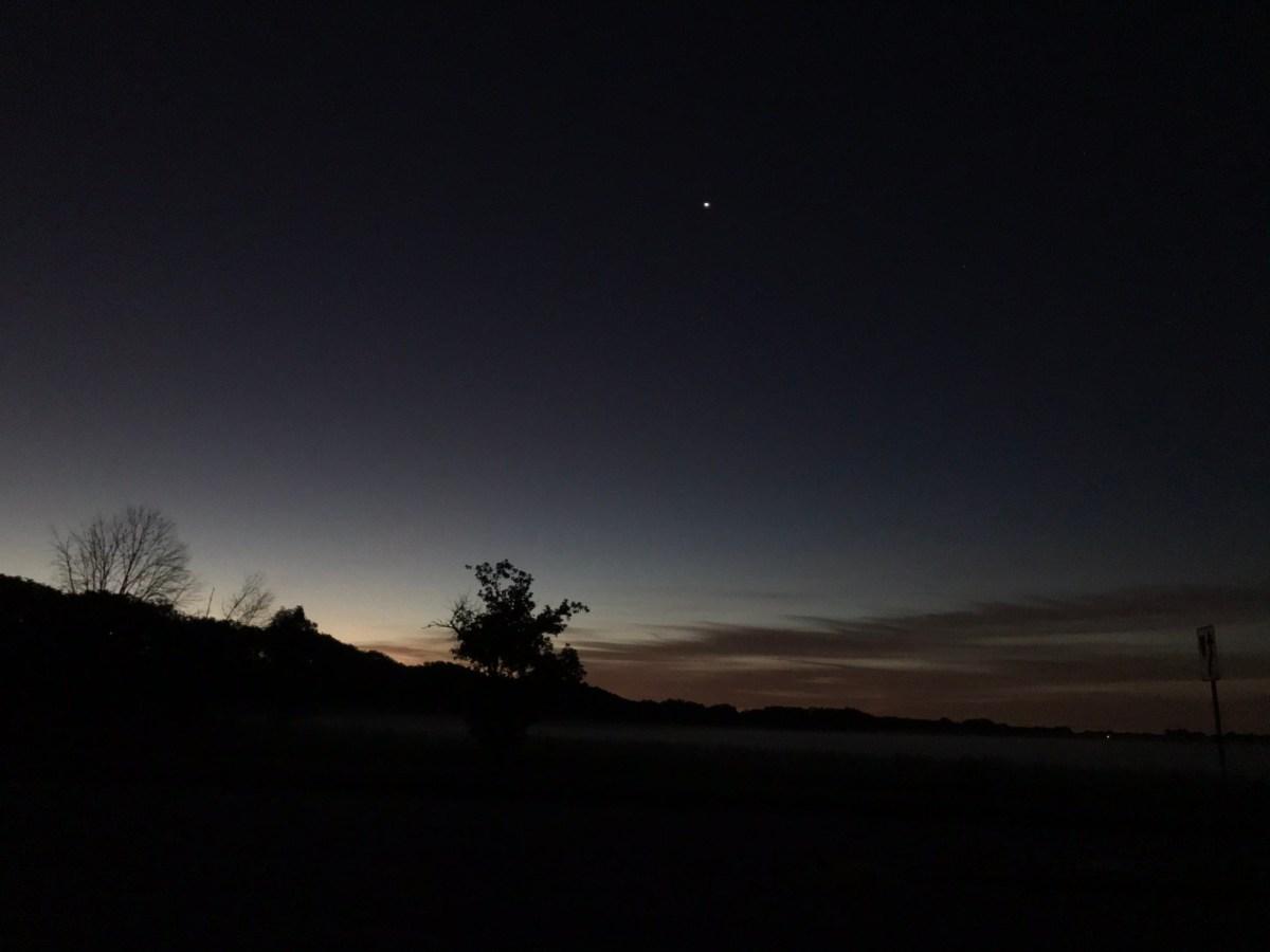 Venus in morning sky, August 12, 2020
