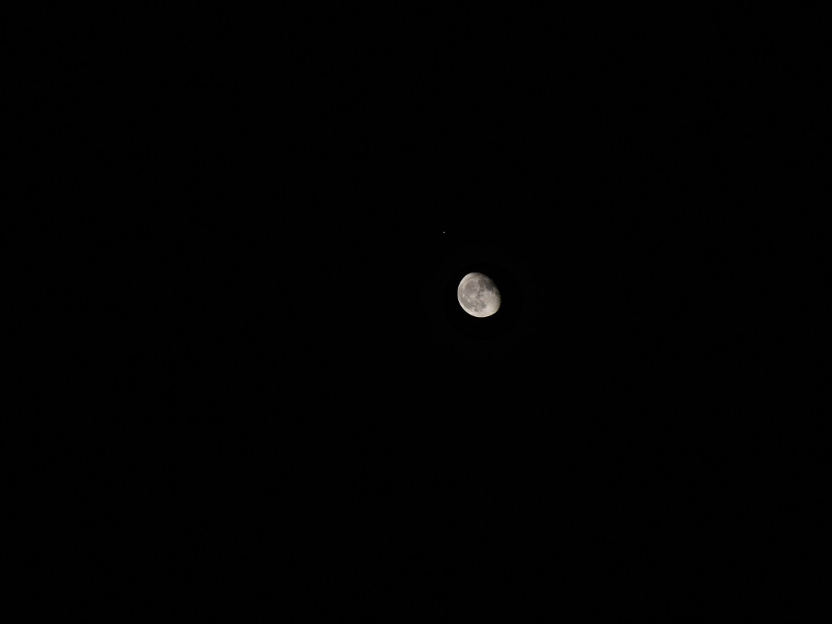 Mars and the moon, September 5, 2020