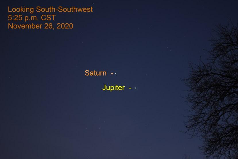 Jupiter and Saturn, November 26, 2020