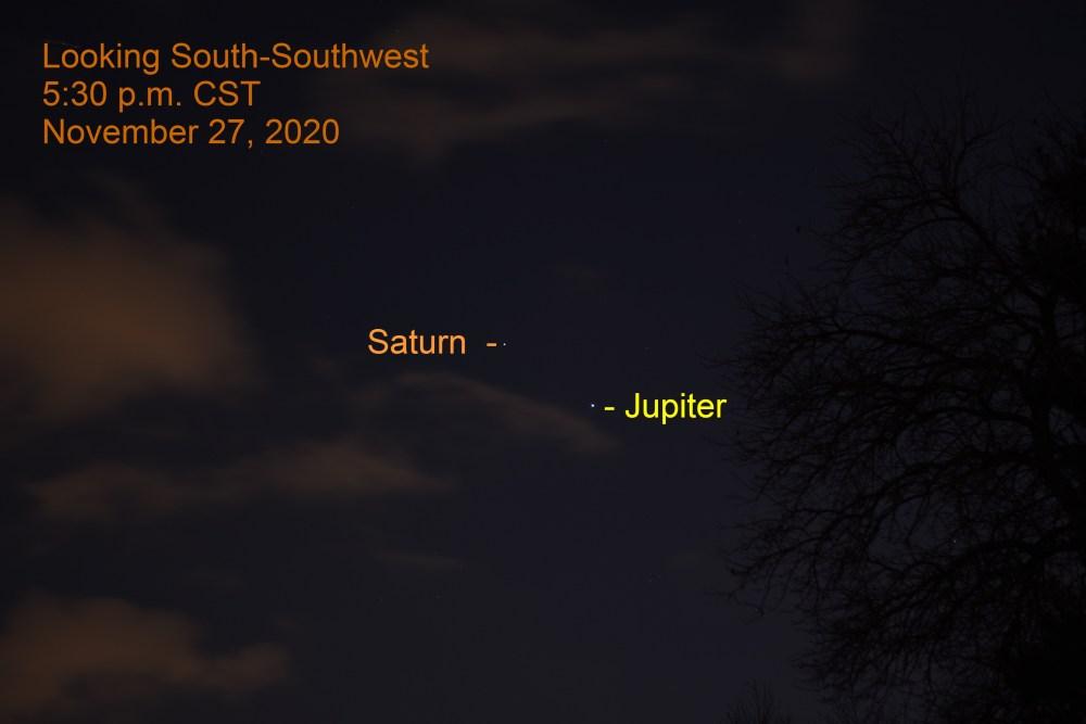 Jupiter and Saturn. November 27, 2020.
