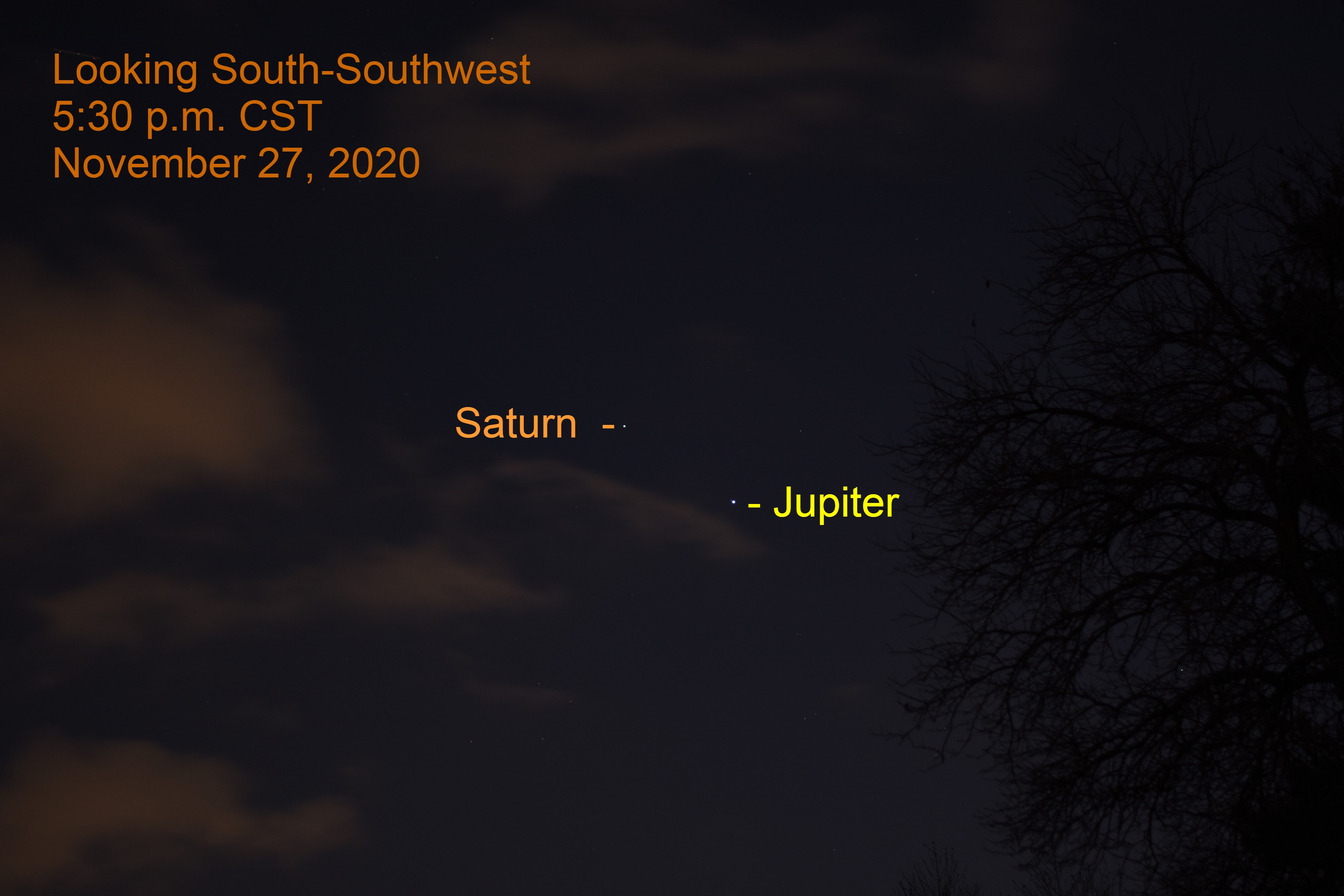 Jupiter and Saturn. November 27, 2020.