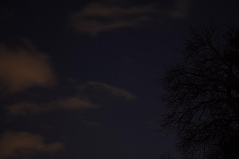 Jupiter and Saturn, November 27, 2020