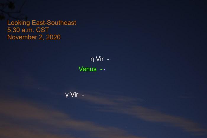Venus in VIrgo, November 2, 2020