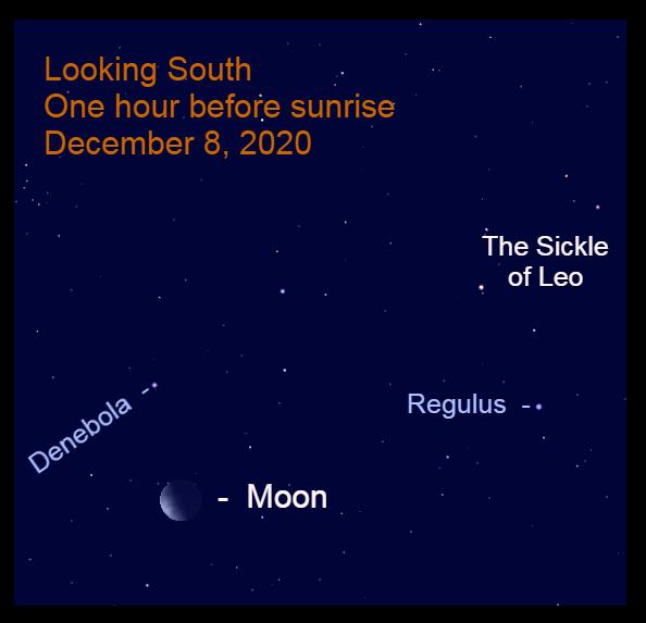Moon with Denebola, December 8, 2020