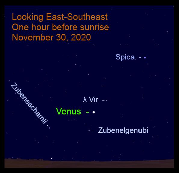 Venus, November 30, 2020