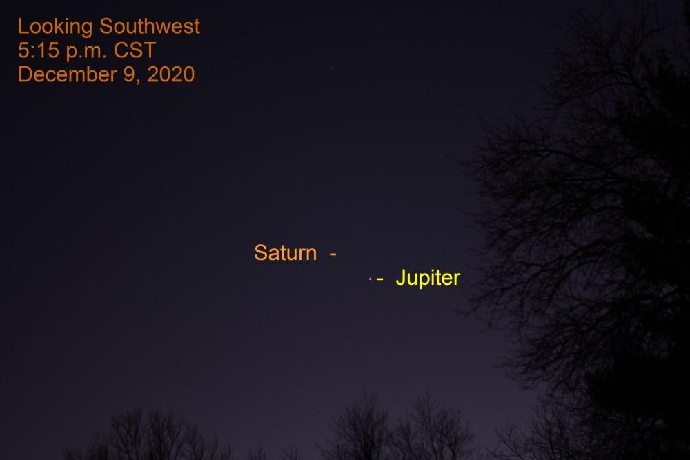 Jupiter and Saturn, December 9, 2020