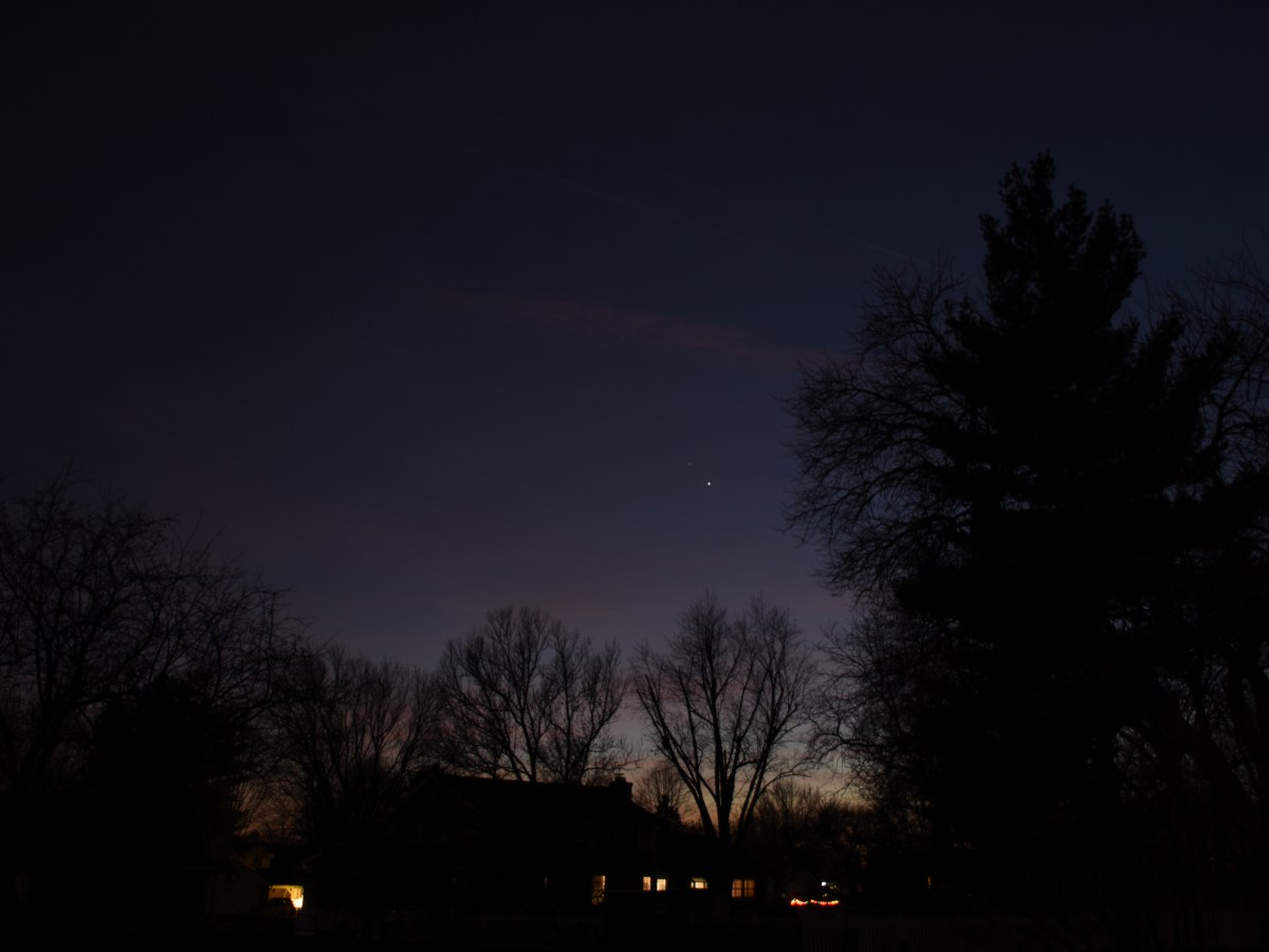 Jupiter and Saturn, December 10, 2020